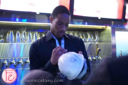 DeMar DeRozan at the 2013 Players' Gala with Toronto Raptors, Toronto Maple Leafs, Toronto FC for The MLSE Team Up Foundation