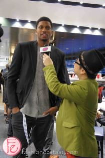 Rudy Gay at the 2013 Players' Gala with Toronto Raptors, Toronto Maple Leafs, Toronto FC for The MLSE Team Up Foundation