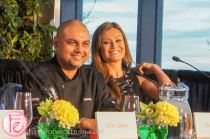 CP24 News Anchor Melissa Grelo and Campbell Soup Executive Chef Suman Roy- The Ultimate Food Challenge (UFC) 2013