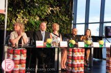 Judges Arlene Dickinson, Erin Davis, Melissa Grelo, Leslie Roberts, and Suman Roy