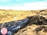 爬冰島斯科加爾瀑布走到頂 (view from top of Iceland Skógafoss)