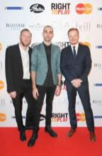Right to Play Ball 2014 Adam Beck, Simon Allen, Paul Johnston