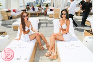 Cabana Pool Bar models in bikini