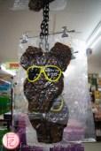 沖繩國際通上的豬頭皮
