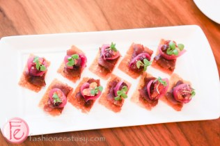 epazote cured beef, pickled red onion, preserved raisin
