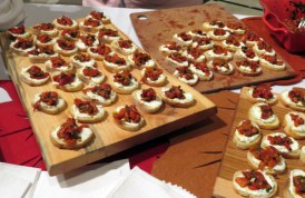 Emily Richards Ricotta and Roasted Red Pepper Crostini at eat to the beat 2014