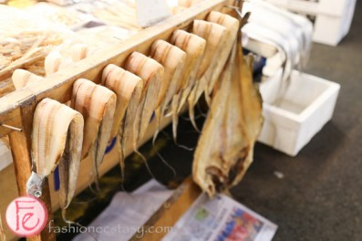 Gwangjang traditional Korean market dried fish
