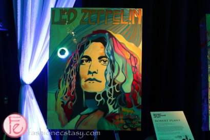 Led Zeppelin's Robert Plant painting at jessgo sound of art exhibit