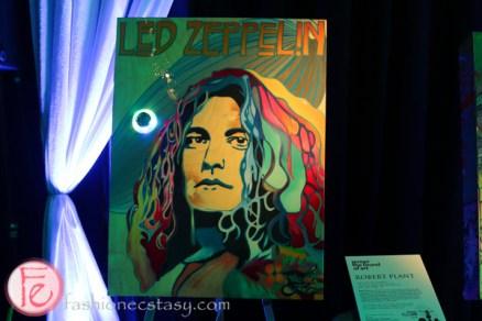 Led Zeppelin's Robert Plant painting at jessgo sound of art exhibit