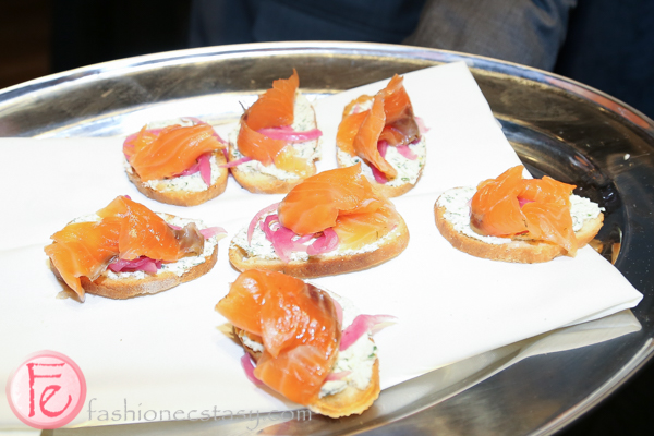salmon crostini at cc lounge