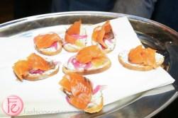 salmon crostini at cc lounge