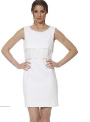 Donna Degnan SS15 white shift dress