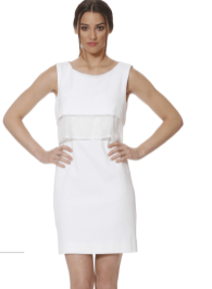 Donna Degnan SS15 white shift dress