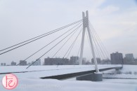 sapporo bridge covered in snow