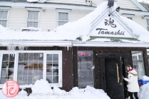 winter Hokkaido niseko tamashii bar in snow