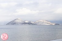 Lake Toya in winter snow