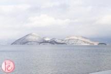 Lake Toya in winter snow