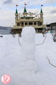 snowman at Lake Toya