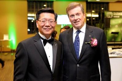 Dr. Joseph Wong and John Tory