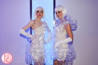promo girls in balloon dress