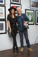 Lucia Graca, Owner of Analogue Gallery and Barrie Wentzell, Photographer
