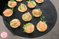 parsnip blini topped with tea smoked trout holts cafe