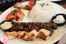 Mixed Grill with basmati rice