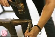 forging horseshoe nails
