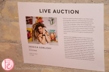 Jessica Gorlicky / JESSGO completed live art for live auction