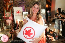 girl holding air canada pillow moonlight gala 2015 mcmichael canadian art collection