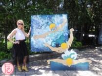 Artist Tania Rihar a splash of style toronto 2015 insupport of wateraid canada