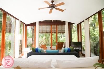 conrad maldives deluxe beach villa private pool