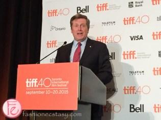 Mayor John Tory tiff toronto international film festival 2015 press conference