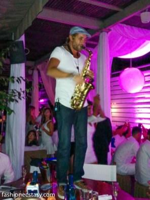 Jimmy Sax nikki beach tiff 2015 all white party