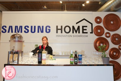 bar at samsung showroom toronto launch