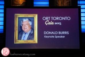 Donald Burris ort gala