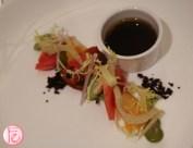 Fava bean and heirloom tomato salad ritz carlton