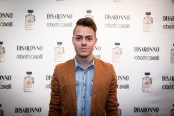 Sebastian Guarin at Disaronno x Roberto Cavalli Limited Edition Bottle disaronno wears cavalli launch