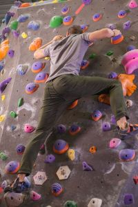 Dish and Duer Nature2X Denim rock climbing