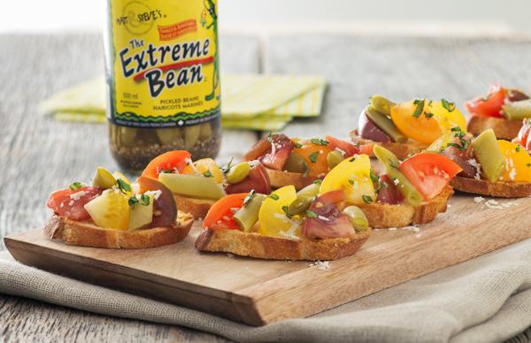 Extreme Bean Bruschetta