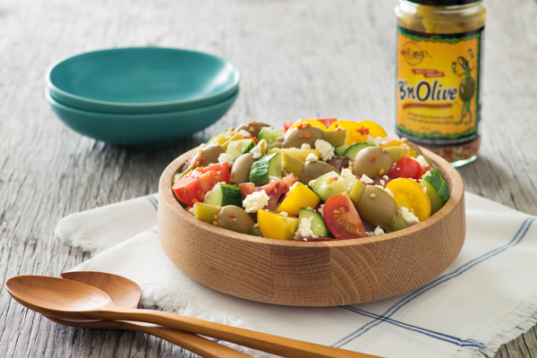Extreme Bean Greek Salad matt & steve's recipe