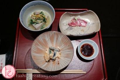 Bunraku teahouse ochaya food in Kamishichiken