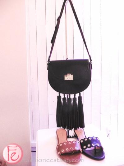 Nine West Black Tassels purse