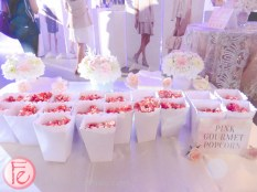 pink popcorn served at Nine West Spring 2016 Collection Preview