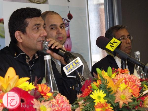 Sanjeev Kapoor, co-owner Shailesh Gangwani, and CEO Rajeev Matta Khazana Restaurant