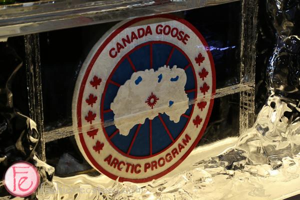 canada goose ice bar on harry rosen rooftop