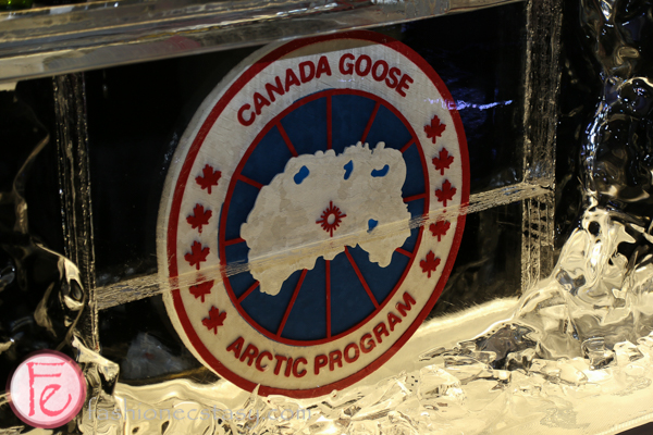 canada goose ice bar on harry rosen rooftop