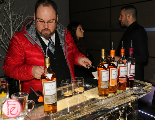 The Macallan 1824 Series whisky station