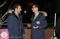dan levy harry rosen canada goose launch party on the rooftop
