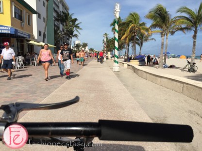 biking in Hollywood Beach, Florida